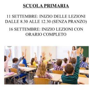 inizio scuola primaria